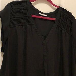 EUC DR2 black sleeveless blouse 2x